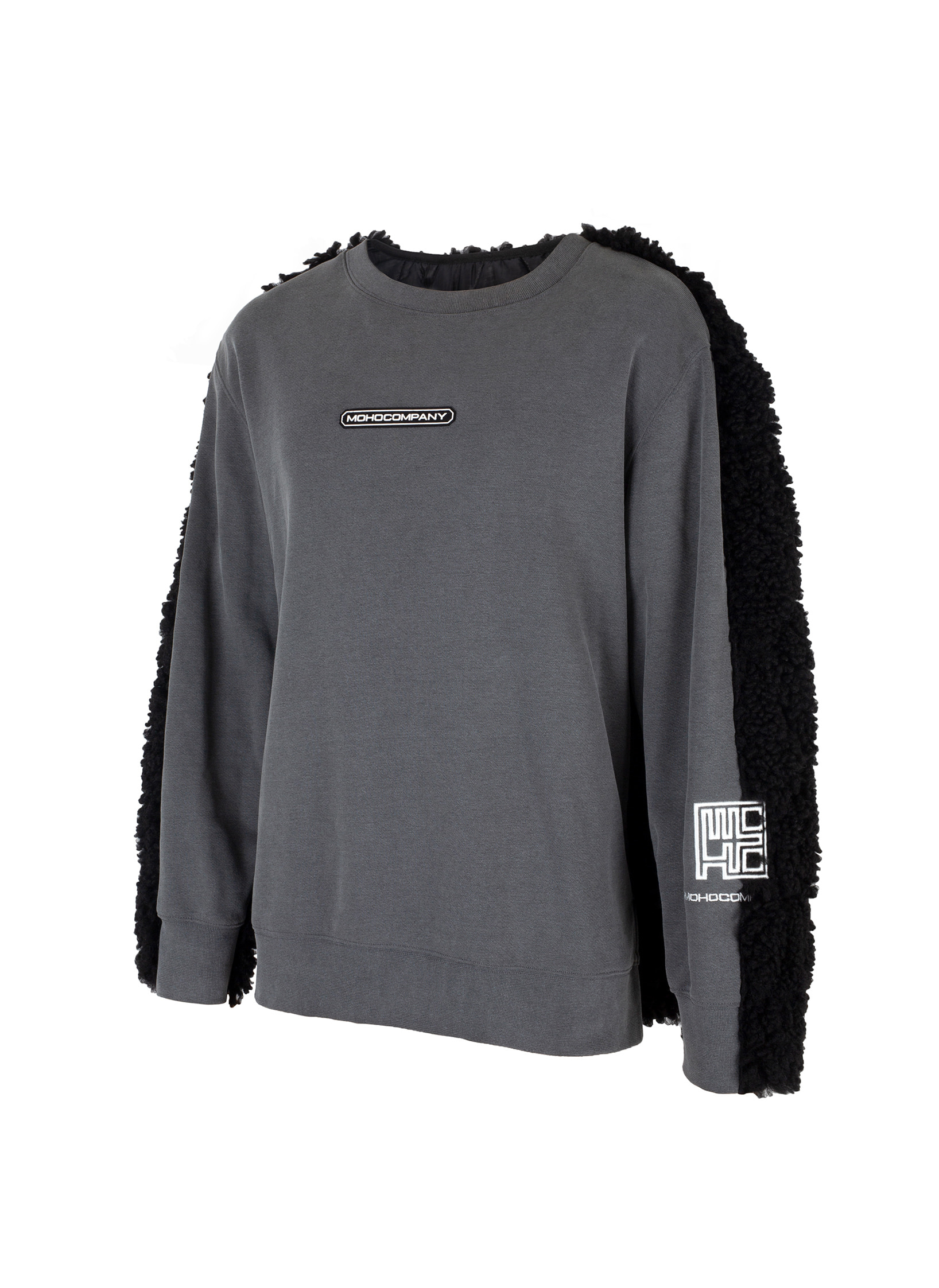 CONTRAST BACK FLEECE SWEATSHIRT